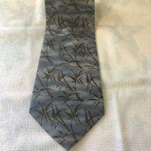 Tommy Bahama Tie Blue w/ Palm Trees Silk 57L 5W